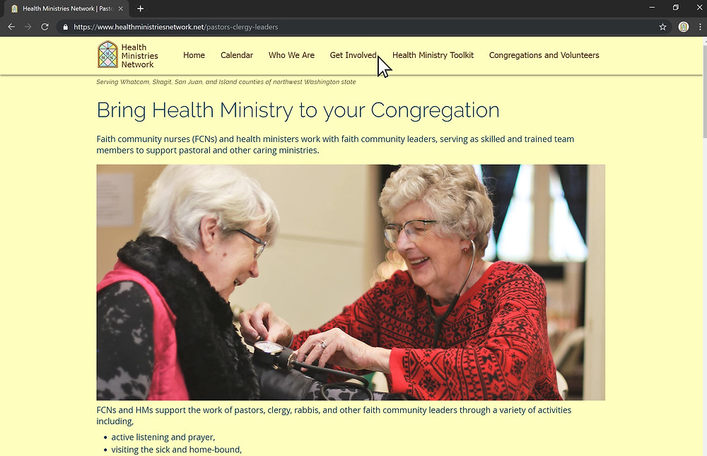 Pastors, Clergy, and Leaders interested in starting a health ministry.