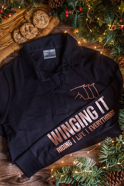 """""""Winging It"""" Ladies Rugby Shirt"""