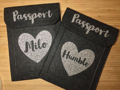 Sparkle Heart Passport Holder