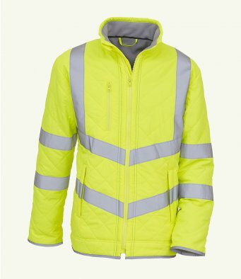Diamond Quilted High Visibility Jacket