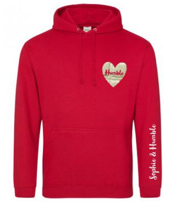 Sparkle Heart Printed Hoodie