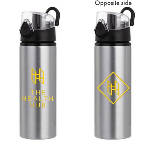 Health Hub Metal Water Bottle