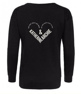 Word Cloud Heart Kids Sweatshirt