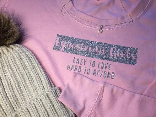 Sparkle slogan Kids Sweatshirt
