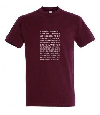 Horsey Husband Vows Tshirt