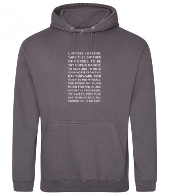 Horsey Husband Vows Hoody