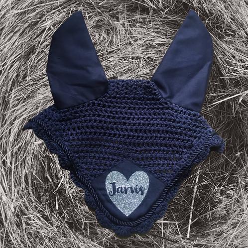 Sparkle Heart Personalised Ear Bonnet