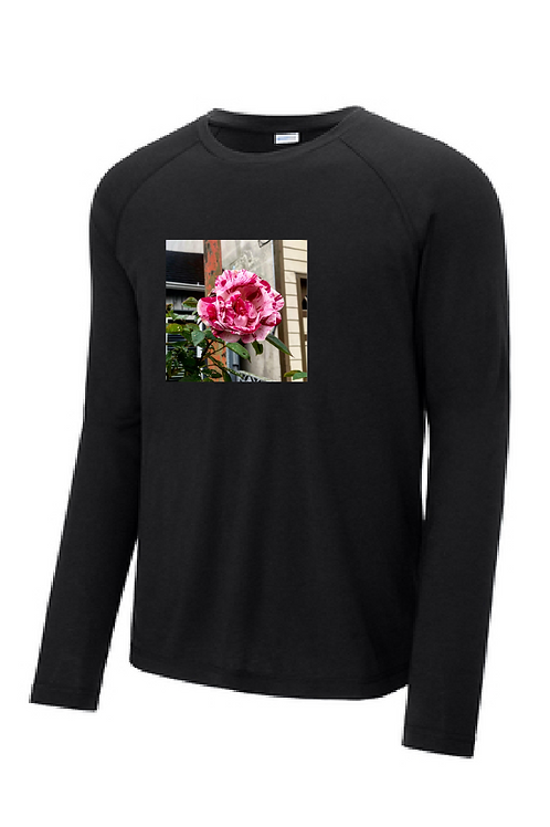 Rose Shirt, Long Sleeve Dry-Fit, Youth