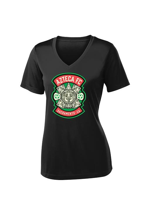 Shirt, Short Sleeve Dry-Fit, V Neck, Women's