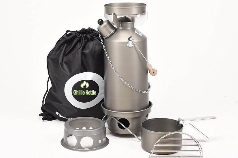 THE ADVENTURER, COOK KIT & HOBO STOVE - HARD ANODISED