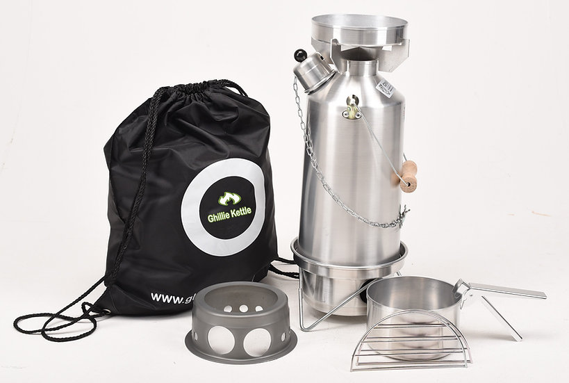 THE ADVENTURER, COOK KIT & HOBO STOVE - ALUMINIUM