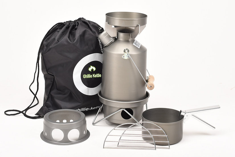 THE EXPLORER, COOK KIT & HOBO STOVE - HARD ANODISED