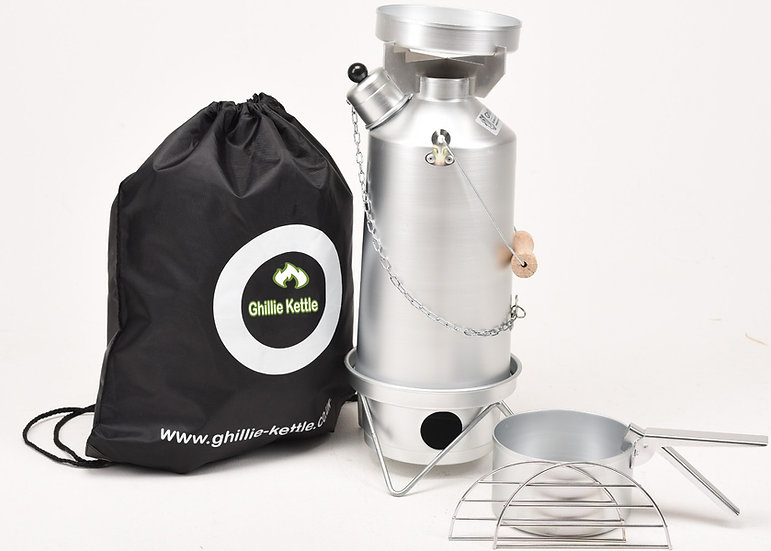THE ADVENTURER & HOBO STOVE - SILVER ANODISED