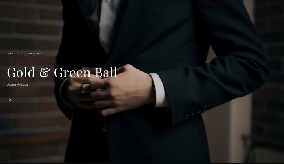 Gold & Green Ball