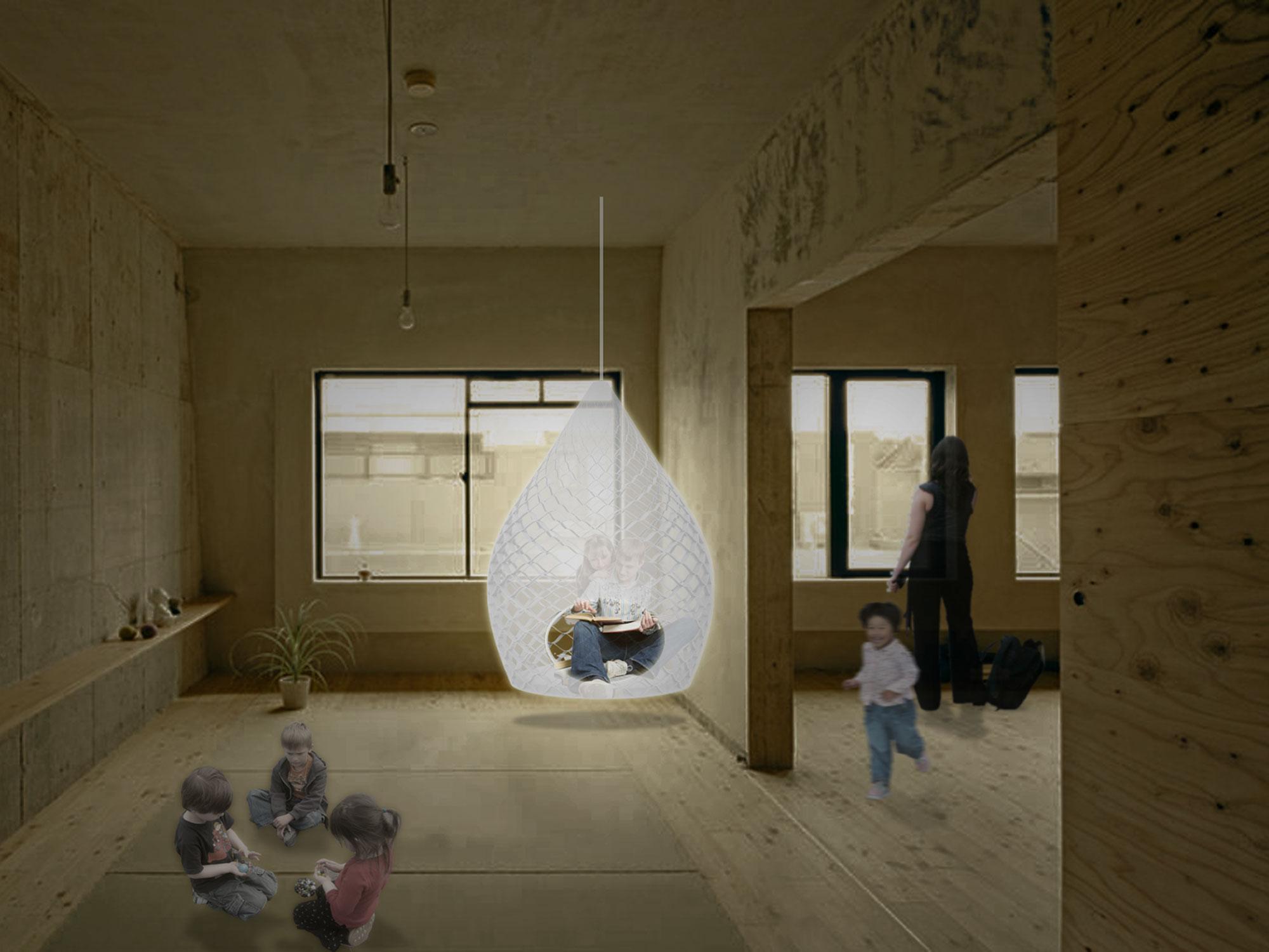 Casulo de Luz. Design de mobiliário
