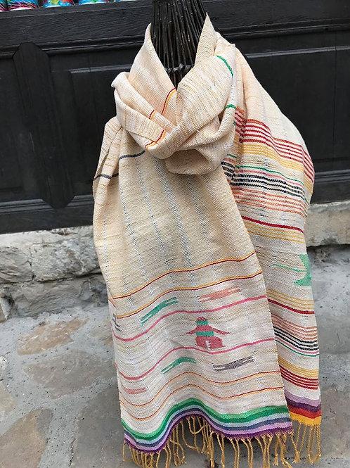 Шал, ръчно тъкан, 100% памук