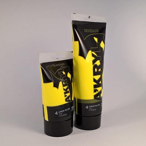RENESANS A'kryl Satin, 004 Lemon Yellow,