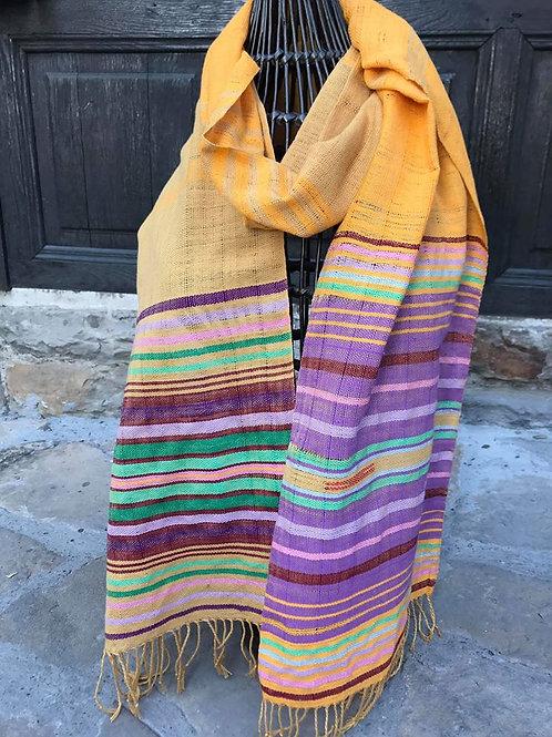 Шал, ръчно тъкан 100% памук