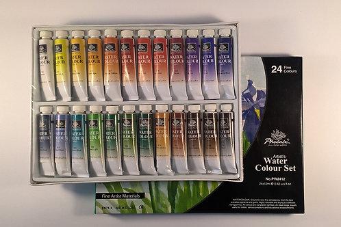 PHOENIX Комплект акварелни бои 24 цв. x 12 ml