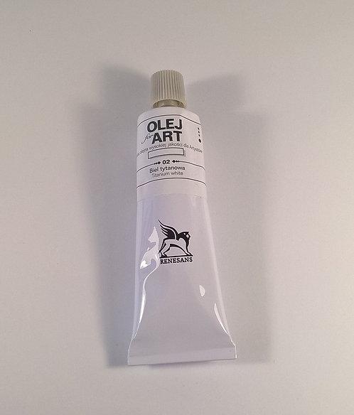 RENESANS Маслена боя 60 ml, 002 Titanium White