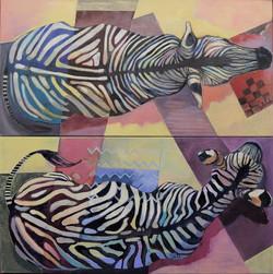 Zebras,Dyptich