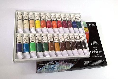 PHOENIX Комплект маслени бои 24 цв. x 12 ml.