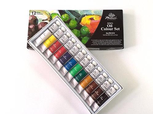 PHOENIX Комплект маслени бои 12 цв. x 22 ml