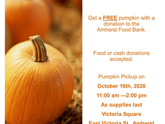 Pumpkins for Poverty is an annual community event in Amherst N.S to help support our local Food Bank