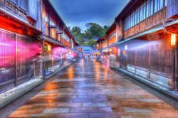 石川県 金沢の夕景