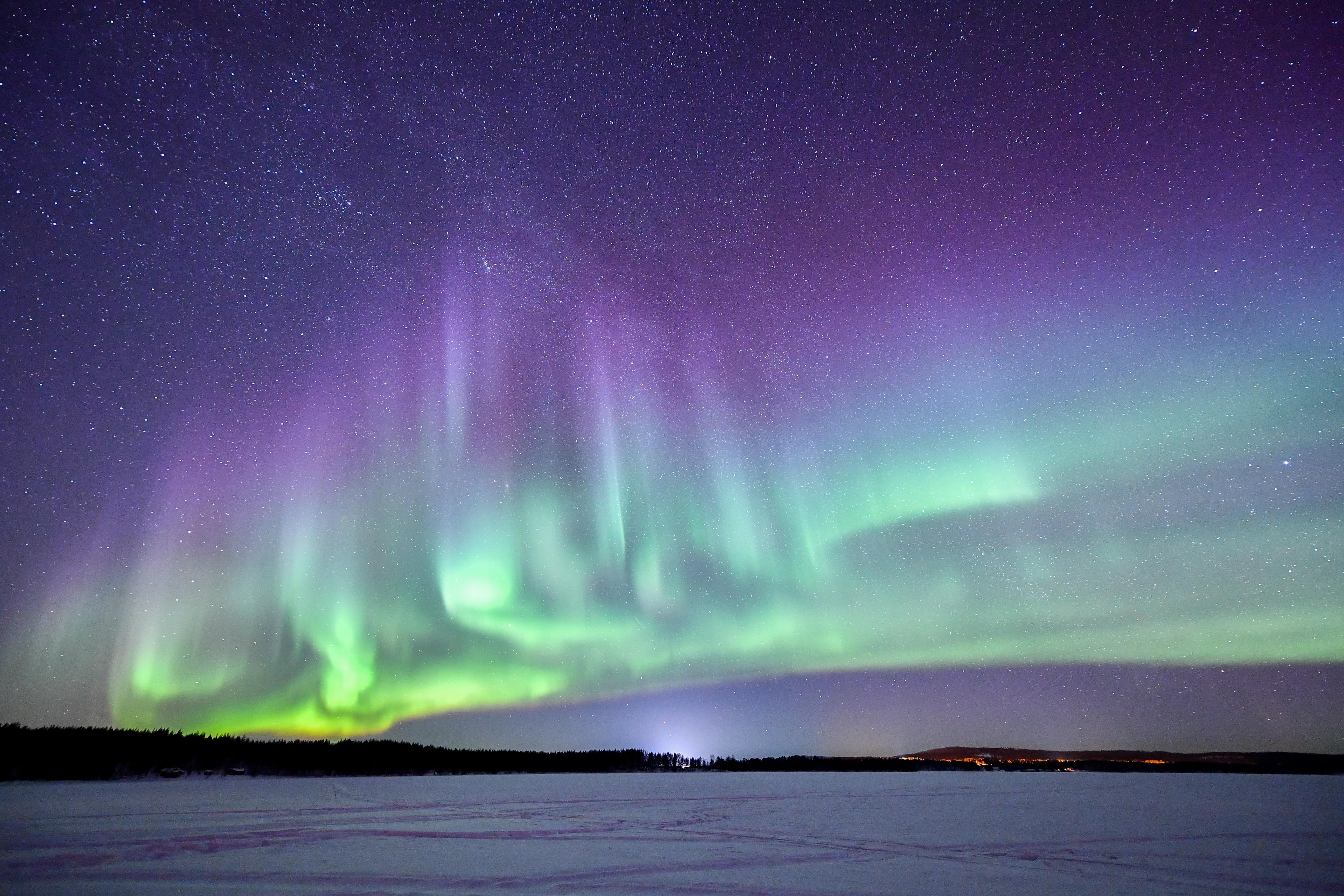 フィンランド ロヴァニエミのオーロラ