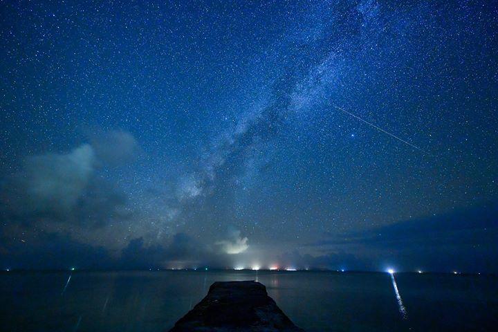 沖縄県・竹富島の星景