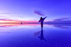 ウユニ塩湖 夕景