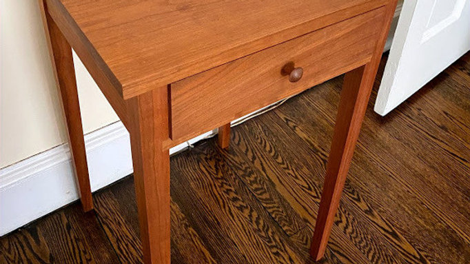 Shaker night table with drawer