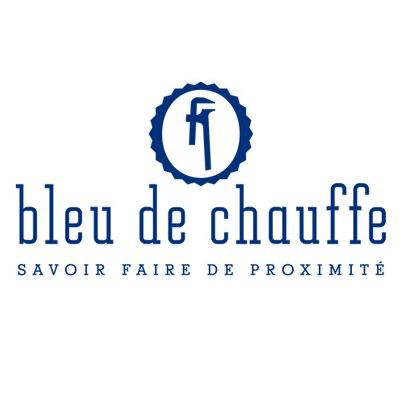 Logo bleu de chauffe