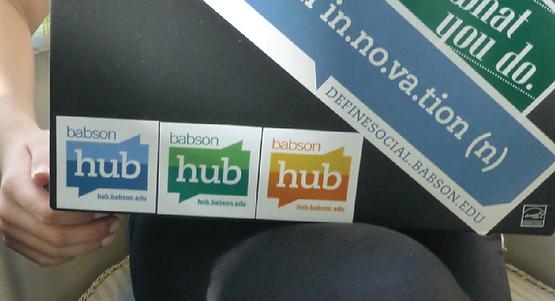babson hub logo sticker