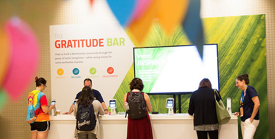 Globoforce Gratitude Bar at WorkHuman Conference