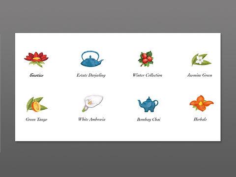 Tea Forte Loose Icon Designs