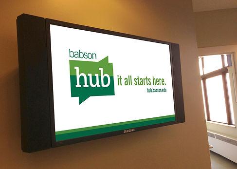 babson hub display monitor