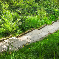 Yorkstone steps at Gravetye, West Sussex
