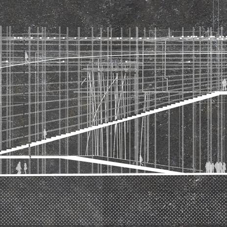 Section through a conceptual design