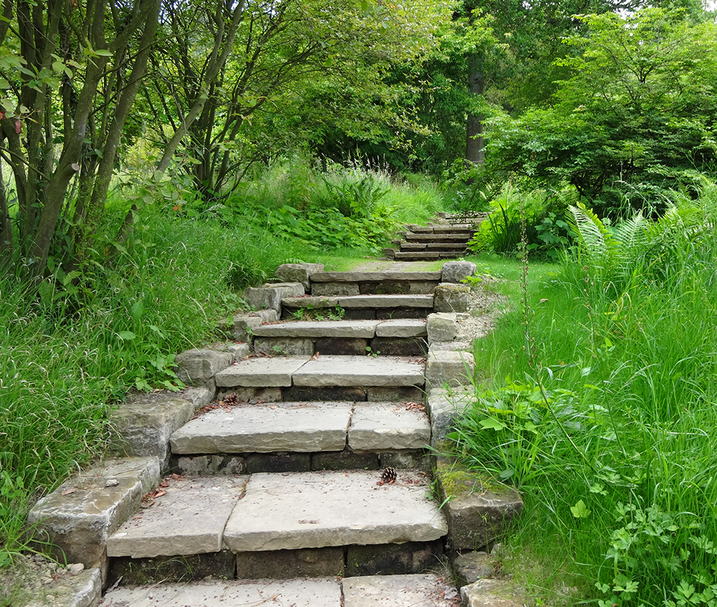 The steps at Gravetye
