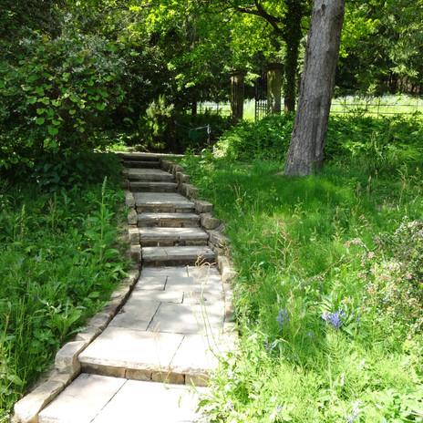 New route through the Wild garden, Gravetye Manor