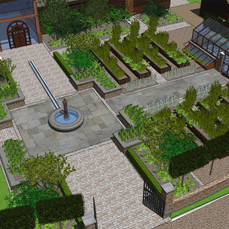 Kitchen Garden Design for a Vineyard Entrance