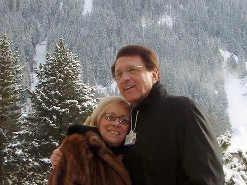 Sue and Sandy at Davos, Switzerland, in 2007.