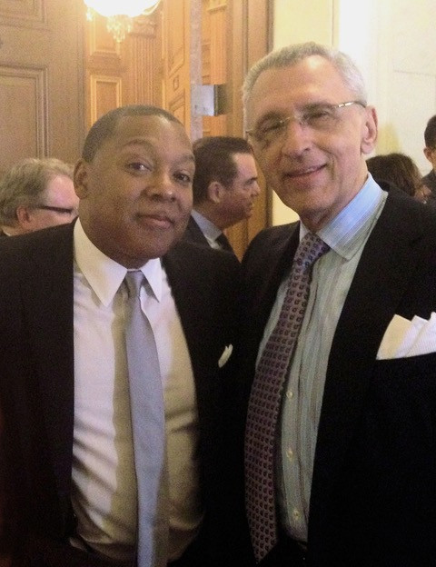 Sandy and Wynton Marsalis in the Supreme Court, 2017.