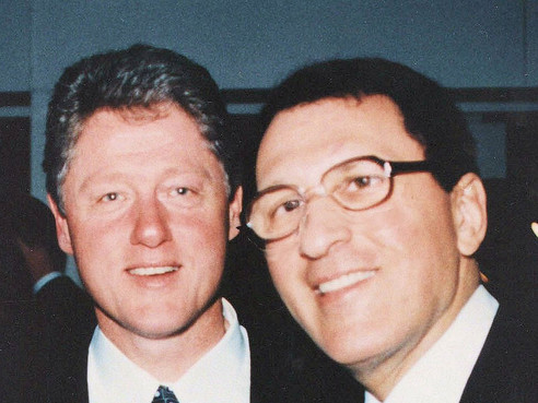 With President Bill Clinton, who appointed Sandy to the National Science Board, that oversees the National Science Foundation.