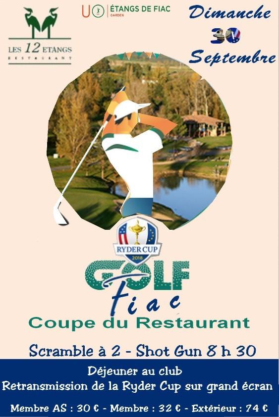 Compétition du restaurant + Diffusion de la Ryder Cup