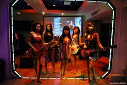 Zak's girls with Koi