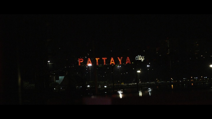 Pattaya sign at night