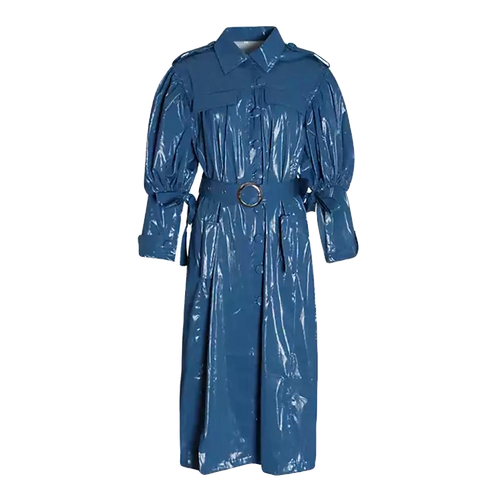 PU LEATHER TRENCH